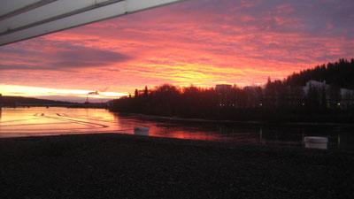 Sonnenaufgang in Jyväskylä © Günter Brus